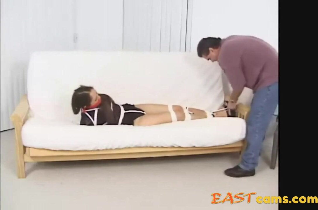 Sexy Asian Girl Bound, Gagged and Groped 2