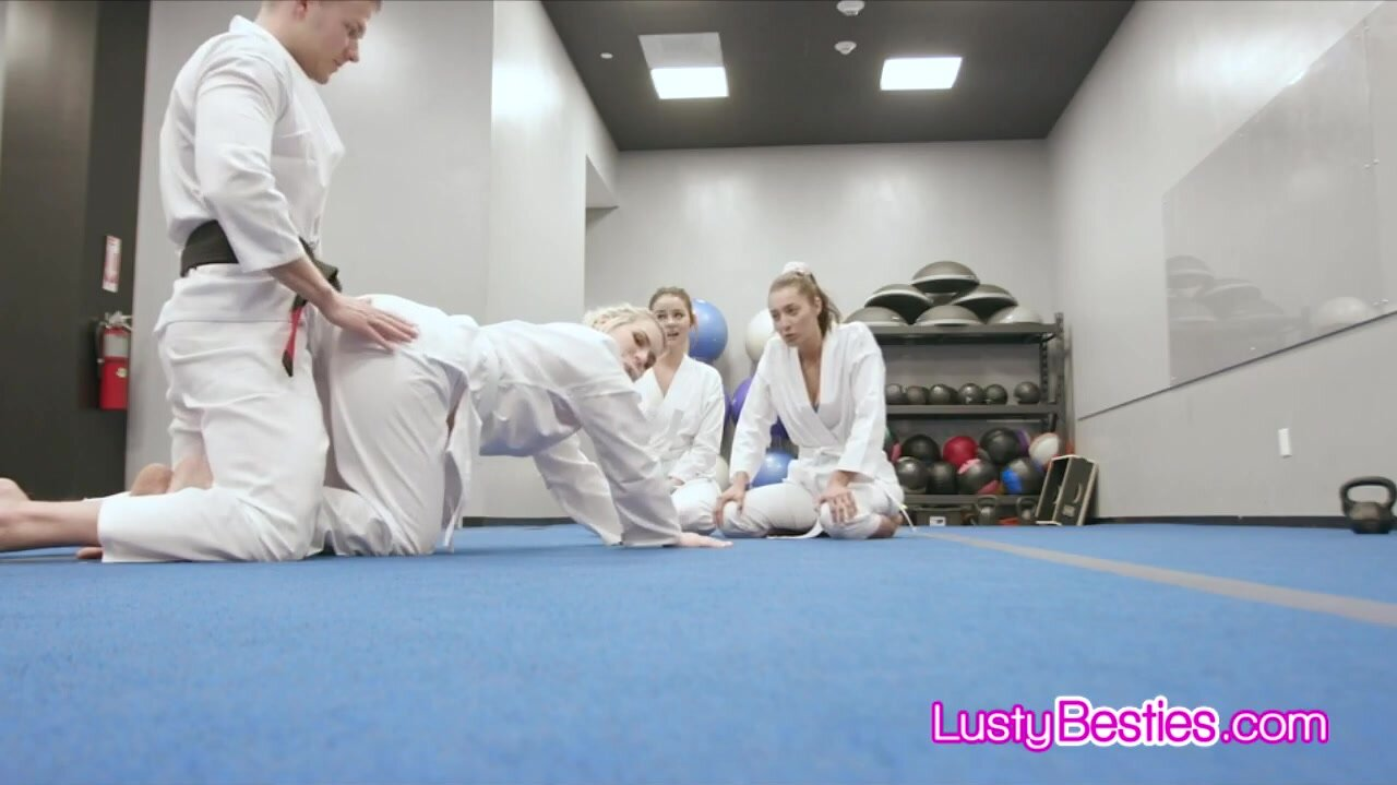 Martial arts training ends in hot foursome