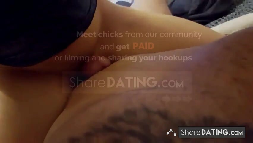 amateur girl ruins his orgasm and feeds him his own cum.