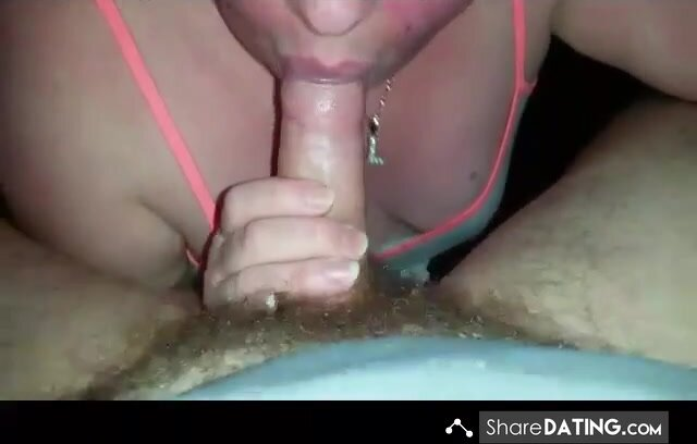 Miss blow job sucking cock till she gets a load in her mouth